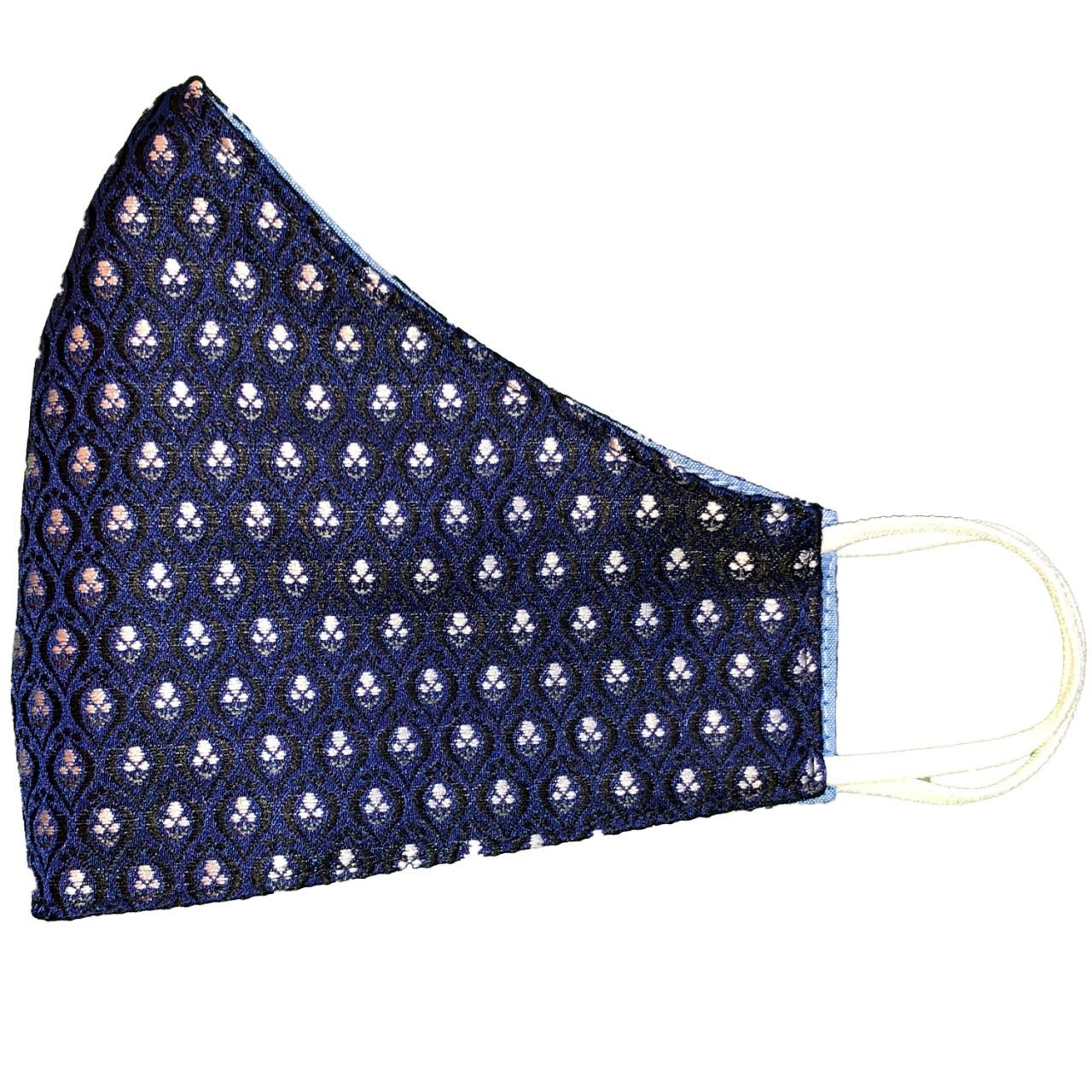 Trachtenmaske blau jacquard
