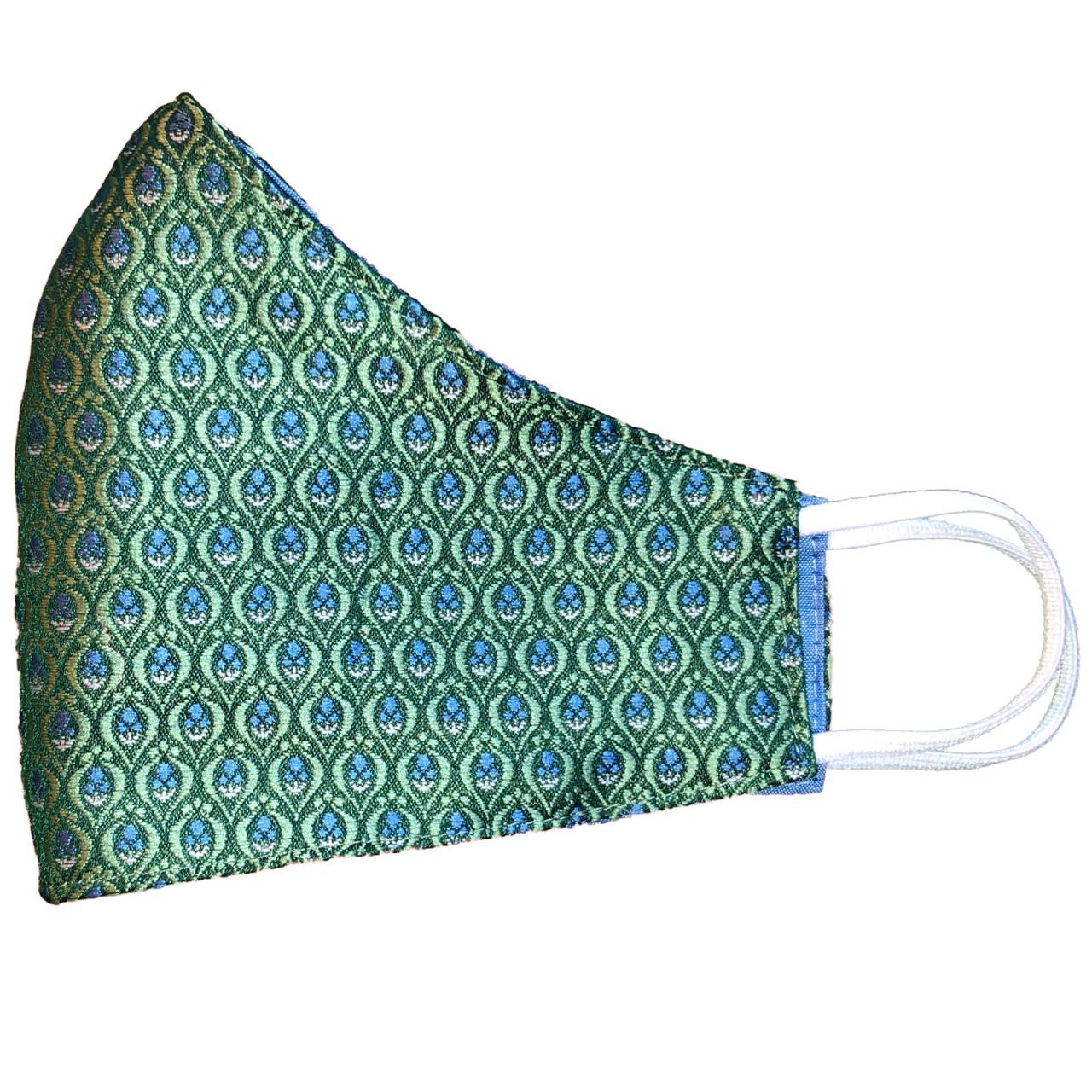 Trachtenmaske grün jacquard