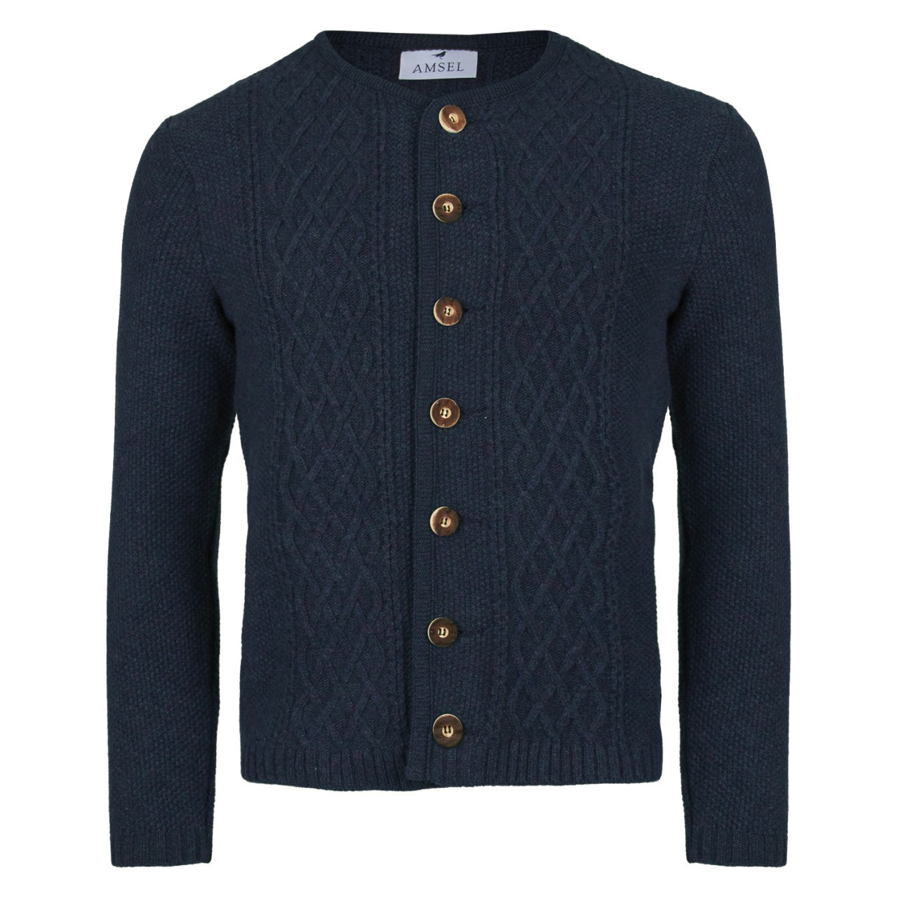 Trachtenstrickjacke William - Navy